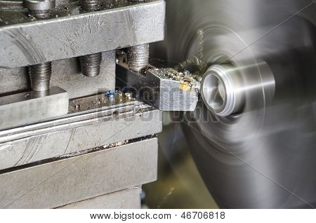 lathe machine metal workshop