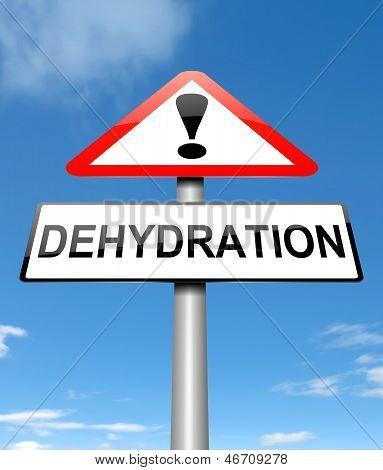 Concepto de deshidratación.