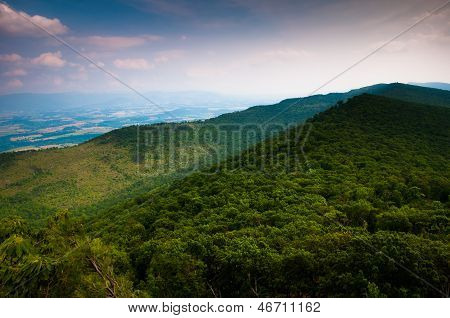 View Of The Appalachian Mountains From Duncan Knob,