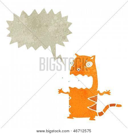 retro cartoon burping cat