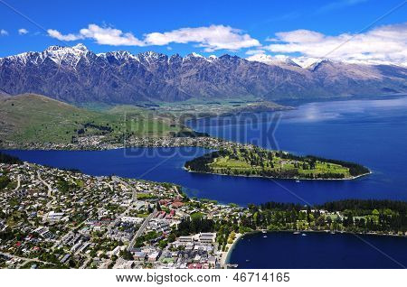 Queens Town And Lake Wakatipu.