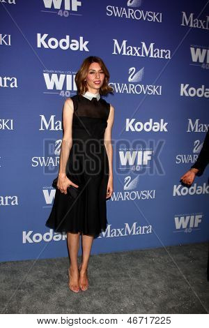 LOS ANGELES - JUN 12:  Sofia Coppola arrives at the Crystal and Lucy Awards 2013 at the Beverly Hilton Hotel on June 12, 2013 in Beverly Hills, CA