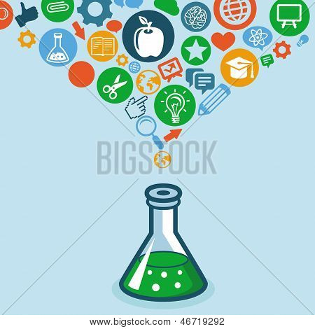Vector Education And Science Concept