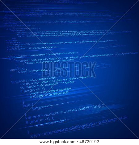 illustration of html coding on technology background