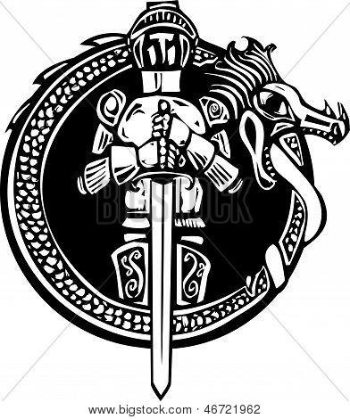 Knight In Dragon Circle
