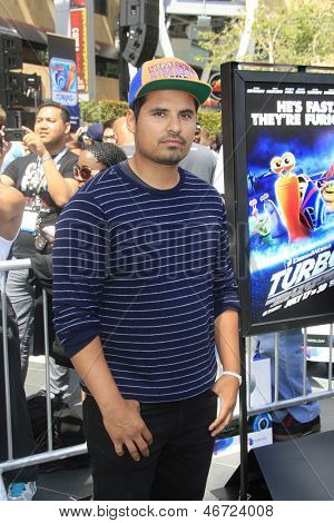 LOS ANGELES - JUN 12: Michael Pena at the Turbo-Charged Party and Surpise Pop-Up concert at L.A. Live for E3 Gaming Convention at Nokia Plaza L.A. LIVE on June 12, 2013 in Los Angeles, California