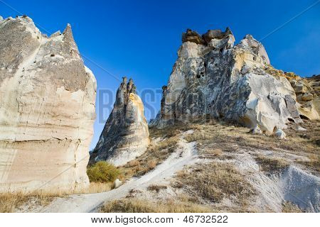 Bizzare rock formations in Cappadocia