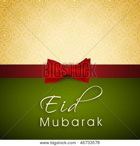 Greeting card or gift card for occasion of Muslim community festival Eid Mubarak.