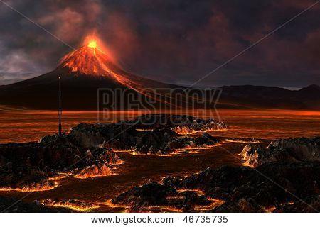 Montaña volcánica