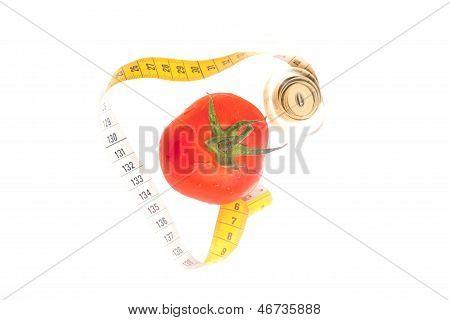 Tomato With Centimeter
