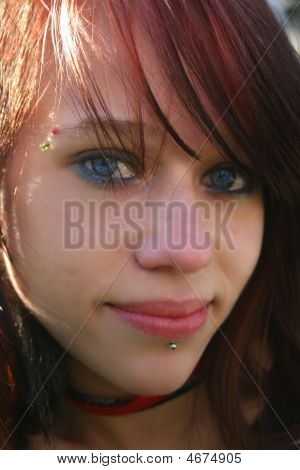 Face Shot Of Young Teenage Girl