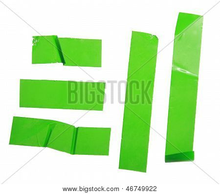 Strips Of Masking Green Tape