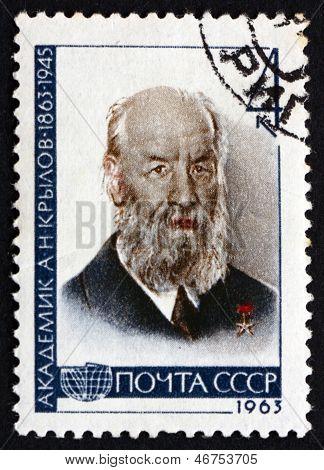 Postage Stamp Russia 1963 Aleksei Nikolaevich Krylov, Mathematician