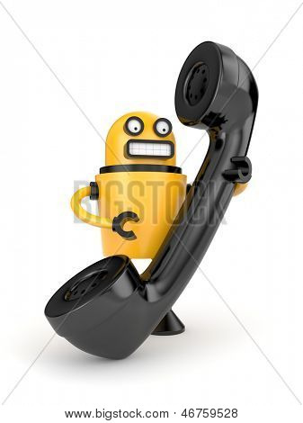 Robot with phone tube