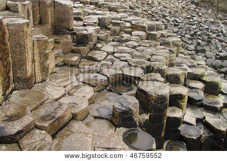 Giants Causeway Columnar Basalt