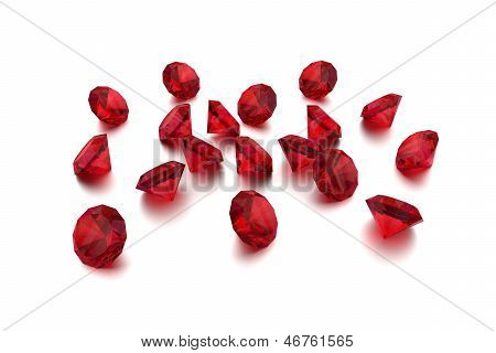 3D Ruby - 18 Red Gems