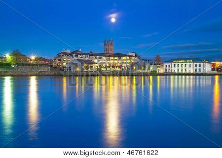 Limerick city at night