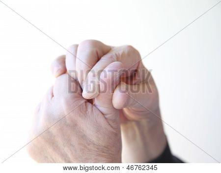 man has a sore thumb