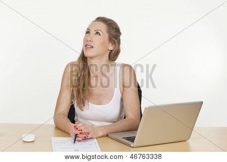 Female Business Executive Looking Upset