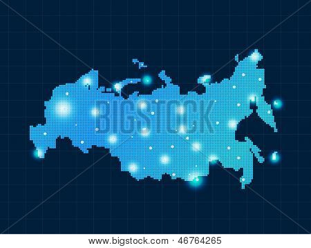 pixel Russia map