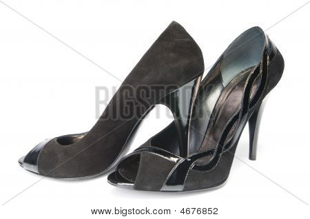 Black Suede Female Shoes