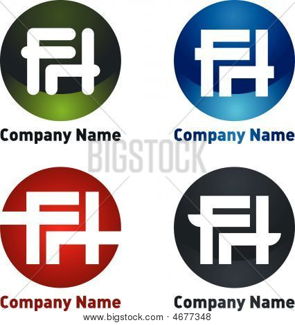 Company Logo With Letters F, H