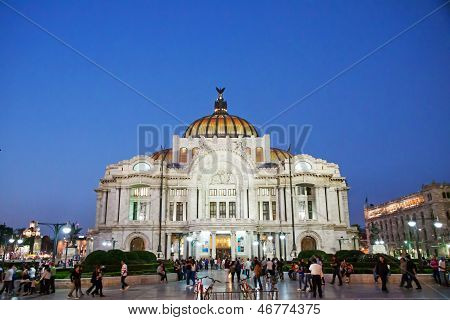 Palacio De Bellas Artes, Mexico City.