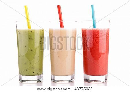 isolated smoothies