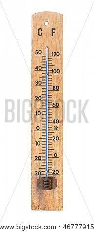 Thermometer howing 46 degrees centigrade in awful summer heatwave