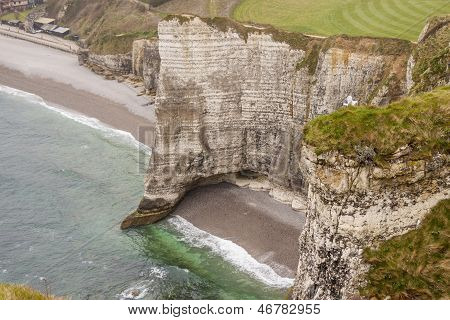 Etretat, France Cote D'albatre (alabaster Coast) Is Part Of The French Coast.