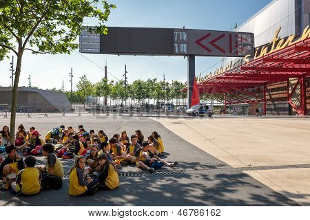 Spanish school class at CCIB in Barcelona