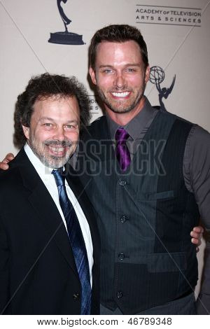 LOS ANGELES - JUN 13:  Curtis Armstrong, Eric Martsolf arrives at the Daytime Emmy Nominees Reception presented by ATAS at the Montage Beverly Hills on June 13, 2013 in Beverly Hills, CA