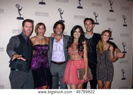 LOS ANGELES - JUN 13:  E Marsolf, A Zucker, Shawn Christian, Camilla Banus, Blake Berris, Kate Mansi arrive at the Daytime Emmy Nominees Reception at the Montage on June 13, 2013 in Beverly Hills, CA