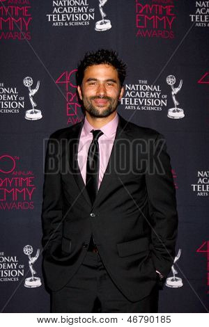 LOS ANGELES - JUN 14:  Ignacio Serricchio attends the 2013 Daytime Creative Emmys  at the Bonaventure Hotel on June 14, 2013 in Los Angeles, CA
