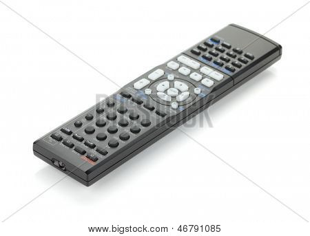 Receiver remote control. Isolated on white background