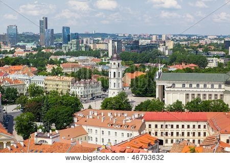 Panoramic view of Vilnius old town