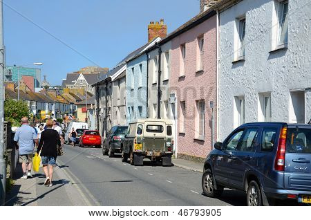 Colourful houses, Fore Street, Newquay
