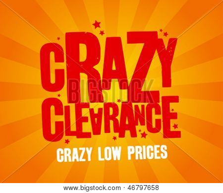 Crazy clearance design template