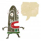 Постер, плакат: ретро мультфильм человек в племенных маски