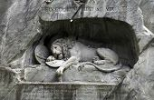 Lion Monument (Lowendenkmal) In Park (Lucerne, Switzerland)