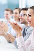 pic of applause  - Business team clapping in applause - JPG