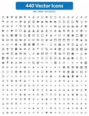 440 Vector Icons.eps poster