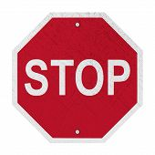 foto of octagon  - Used STOP Sign  - JPG