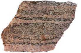 stock photo of feldspar  - Gneiss from Karelia - JPG