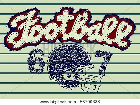 Football embroidery.