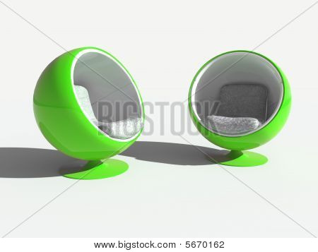 Green Stylish Chairs