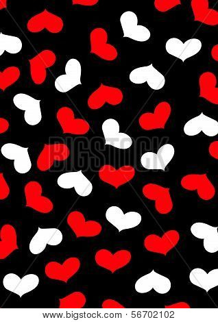 Love Heart Repeat Pattern.