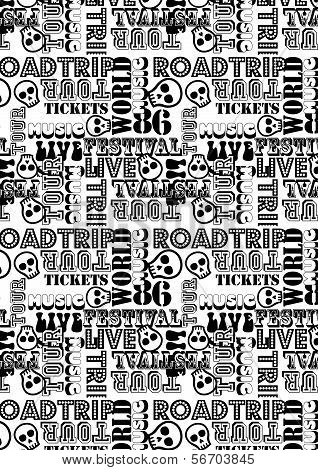 Road Trip Music Tour Pattern.eps