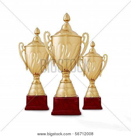 Three Championship Trophies