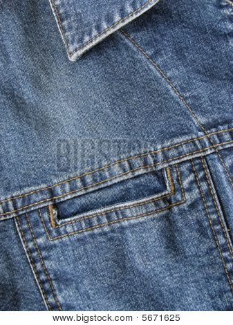 Blue Denim Jacket Pocket